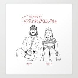The Royal Tenenbaums (Richie and Margot) Art Print