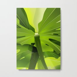 Rubber tree leaves Metal Print