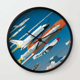 100 Years of Aviation Wall Clock