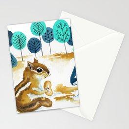 Fall Chipmunk Stationery Cards