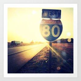 Highway 80 West Art Print