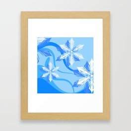 The Flower Abstract Holiday Framed Art Print