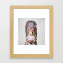 Squirrel - Colorful Framed Art Print