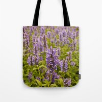 lavender Tote Bags featuring lavender by Julio O. Herrmann