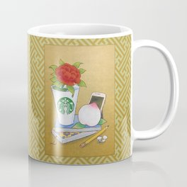Modern Minhwa in Cafe (Korean traditional/folk art) Coffee Mug