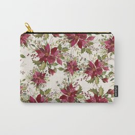 Poinsettia Pattern Carry-All Pouch