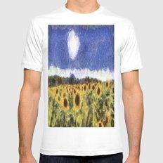 Sunflower Summers Van Gogh Mens Fitted Tee White MEDIUM