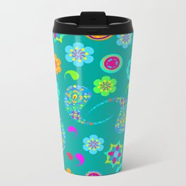 Green Paisley № 5 Metal Travel Mug