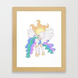 Princess Celestia Cutie Mark Charm Framed Art Print
