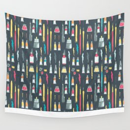 Addicted to Art supplies pattern Wall Tapestry