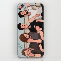 boys iPhone & iPod Skins featuring boys by skyberia