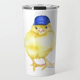 Baseball Chick Watercolor Travel Mug