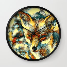 AnimalArt_Fox_20170601_by_JAMColorsSpecial Wall Clock