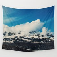 alaska Wall Tapestries featuring Alaska Mountain by Leah Flores