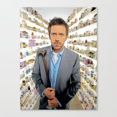 House MD - Colored Pencil Sketch Style Canvas Print