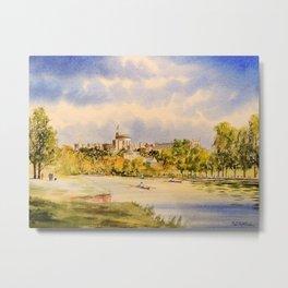 Windsor Castle And River Thames Metal Print