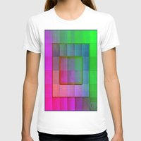 aperture T-shirts featuring Aperture #1 Fractal Pleat Texture Colorful Design by CAP Artwork & Design