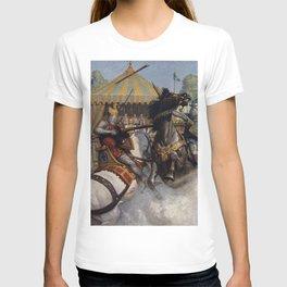 Knights jousting T-shirt