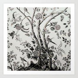 Peacock Tree Natural Art Print