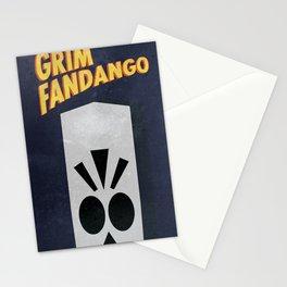 Minimalist Grim Fandango Poster Stationery Cards