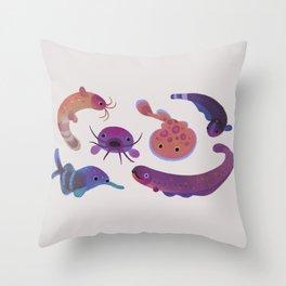 Electric fish Throw Pillow