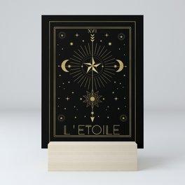 L'Etoile or The Star Tarot Gold Mini Art Print