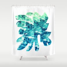 Oddly blue Shower Curtain