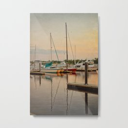 Wilmington City Docks on the Riverwalk Metal Print