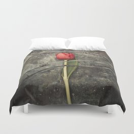 Tulip and barbed wire Duvet Cover