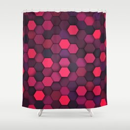 Geometric bright polygonal pattern  Shower Curtain