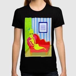 """Stealing Matisse"" (Picasso Watching) T-shirt"