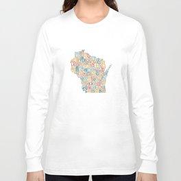 Wisconsin by County Long Sleeve T-shirt