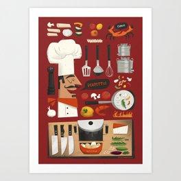 Italian Kitchen Art Print