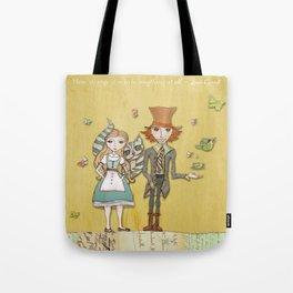 How Strange It Is - Alice in Wonderland Tote Bag