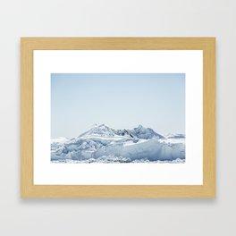 wall of ice Framed Art Print