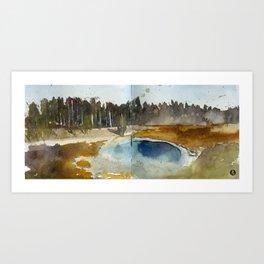 Yellow Stone National Park Art Print