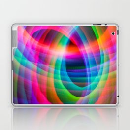 Spirograph rainbow light painting Laptop & iPad Skin
