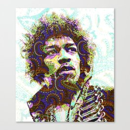 Hendrix Psychedelic Guitar Canvas Print