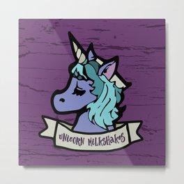 Unicorn Milkshakes Metal Print