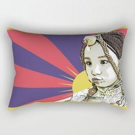 A little Tibetan girl Rectangular Pillow