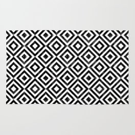 Black and white watercolor diamond pattern Rug