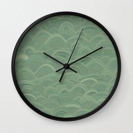 just waves aqua Wall Clock