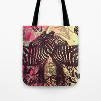 zebra Tote Bags featuring ZEBRA by Nechifor Ionut