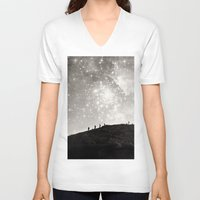 starry night V-neck T-shirts featuring Starry Night  by Laura Ruth