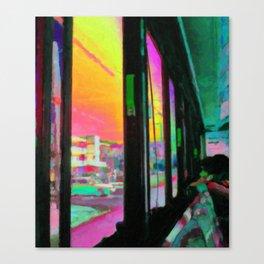 Acid bus trip Canvas Print
