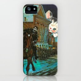Death is cute kitten handcut collage iPhone Case