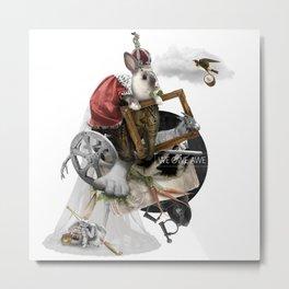 WE OWE AWE (Totem of the Rabbit) Metal Print