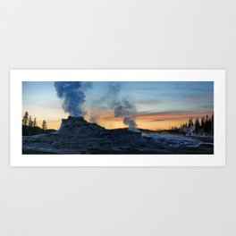 Castle Geyser at Dusk Art Print