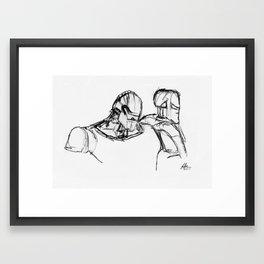 Warbot Sketch #001 Framed Art Print