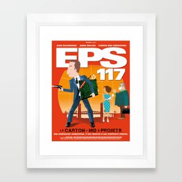 EPS 117 - Le carton Framed Art Print
